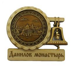 """Магнит из бересты с колоколом """"Данилов монастырь"""""""