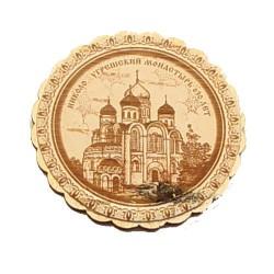 """Магнит из бересты """"Преображенский собор"""" Николо-угрешский мон"""
