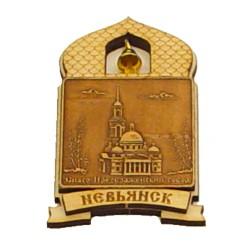"""Магнит из бересты купол """"Спасо-Преображенский собор"""" Невьянск"""